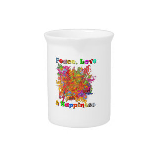 Peace, Love & Happiness Pitcher
