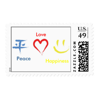 Peace Love Happiness Postage