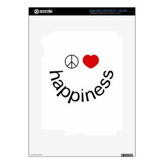 Peace Love Happiness iPad 3 Skin