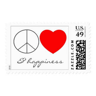 """""""peace, love & happiness"""" stamp"""