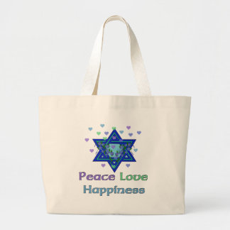 Peace Love Happiness Tote Bags
