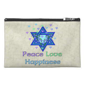 Peace Love Happiness Travel Accessory Bags