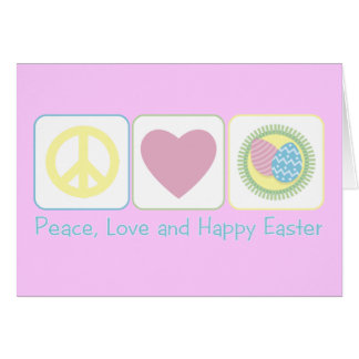 Peace Love Happy Easter Card