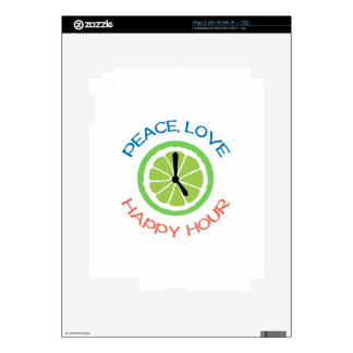 Peace Love Happy Hour Skin For The iPad 2