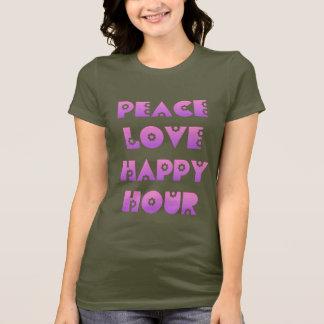 Peace, Love & Happy Hour T-Shirt