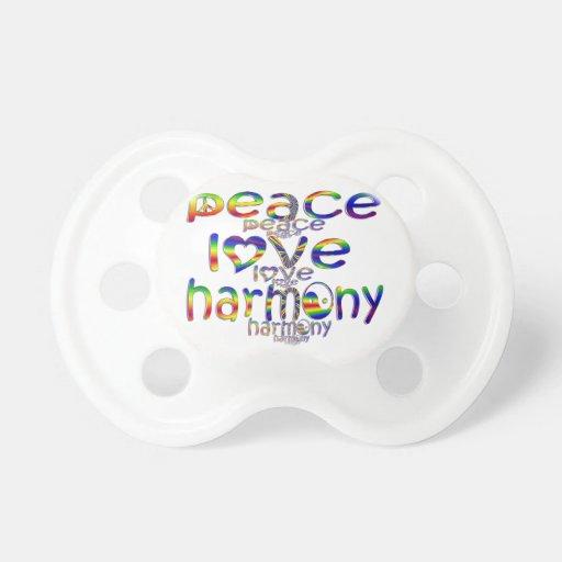 Peace Love Harmony Baby Pacifier