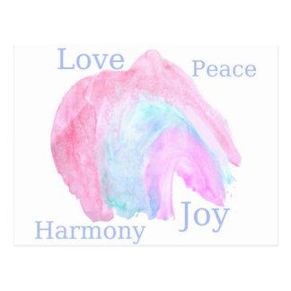 Peace Love Harmony Joy Postcard