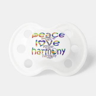 Peace Love Harmony Pacifier