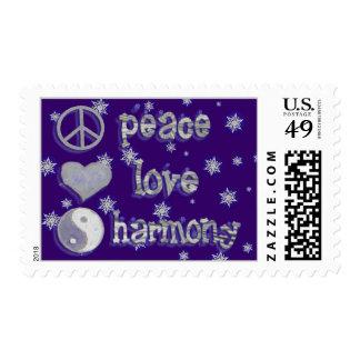 Peace, Love & Harmony postage
