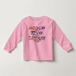 Peace Love Harmony Toddler T-shirt