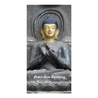 Peace Love Harmony with Buddha Photo Card