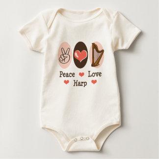 Peace Love Harp Baby Romper
