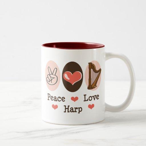 Peace Love Harp Mug