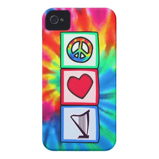 Peace, Love, Harps iPhone 4 Cases