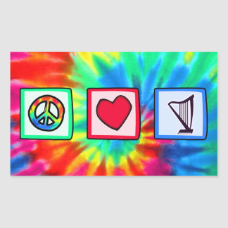 Peace, Love, Harps Stickers