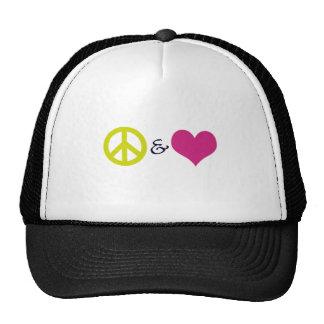 Peace & Love Mesh Hat