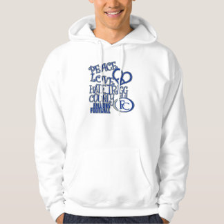 Peace, Love, Hate Trigg County - Falcons Football Sweatshirts