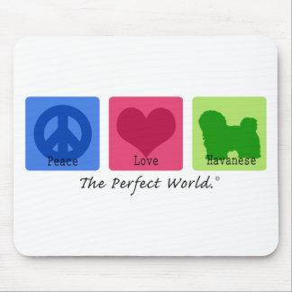 Peace Love Havanese Mouse Pad
