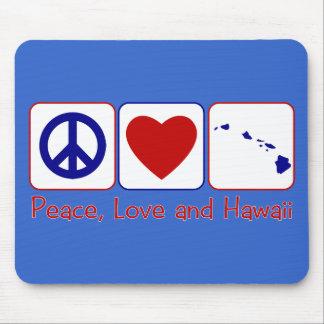 Peace Love Hawaii Mouse Pad