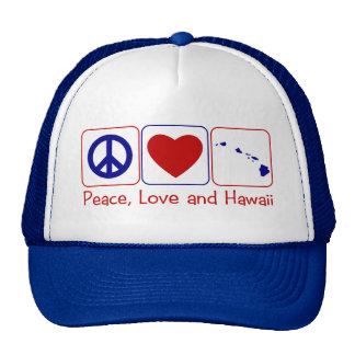 Peace Love Hawaii Trucker Hat