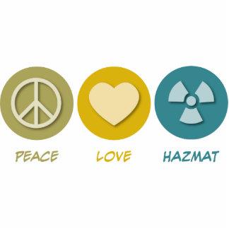 Peace Love Hazmat Photo Sculpture Ornament