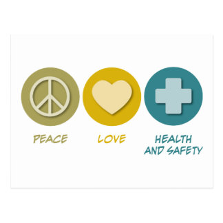 Peace Love Health and Safety Postcard