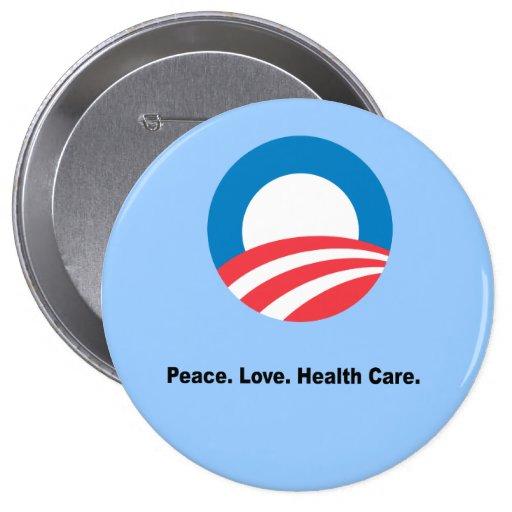 Peace. Love. Health Care Pins