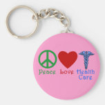 Peace Love Healthcare Products Basic Round Button Keychain