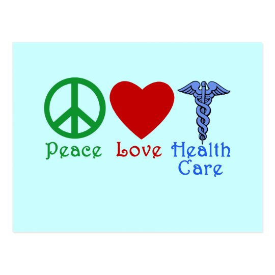 Peace Love Healthcare Products Postcard