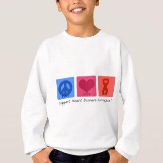 Peace Love Heart Disease Sweatshirt