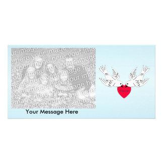 Peace Love Heart Doves Card