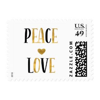 Peace Love Heart Postage