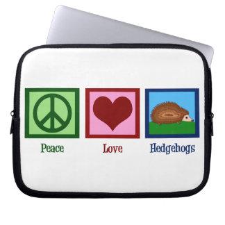 Peace Love Hedgehogs Laptop Computer Sleeve