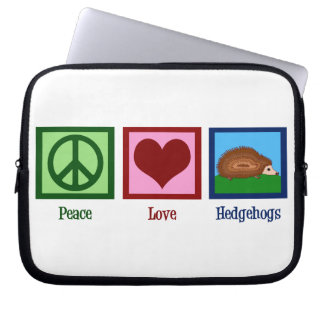 Peace Love Hedgehogs Computer Sleeve