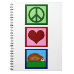 Peace Love Hedgehogs Spiral Note Books