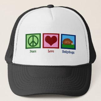 Peace Love Hedgehogs Trucker Hat