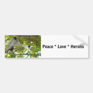 Peace Love Herons Bumper Sticker