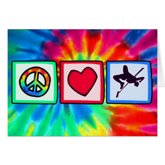 Peace, Love, High Jump Card