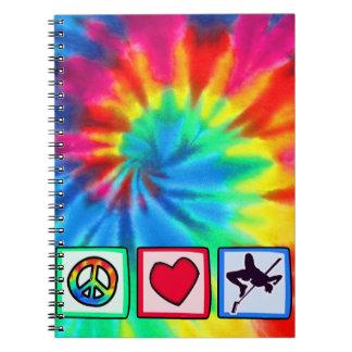 Peace, Love, High Jump Spiral Notebook