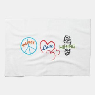 Peace Love Hiking Kitchen Towel