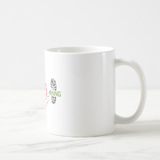 Peace Love Hiking Classic White Coffee Mug