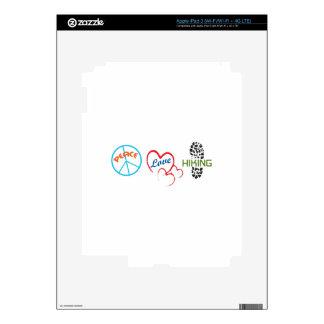 Peace Love Hiking iPad 3 Skins