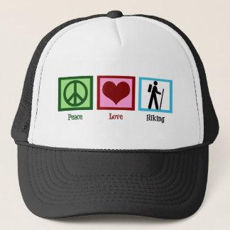 Peace Love Hiking Trucker Hat
