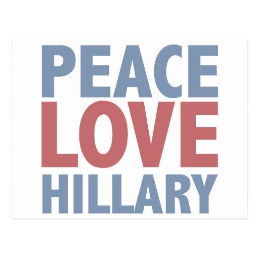 Peace Love Hillary Postcard