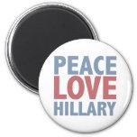 Peace Love Hillary Refrigerator Magnets