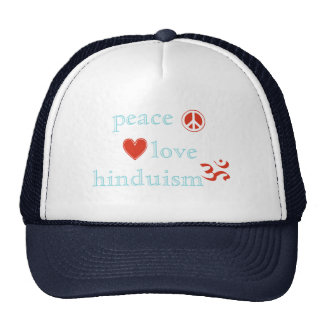 Peace Love Hinduism Hat
