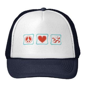 Peace Love Hinduism Squares Hat