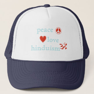 Peace Love Hinduism Trucker Hat