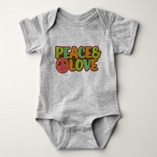 Peace & Love Hippie Baby Bodysuit
