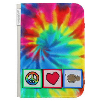 Peace, Love, Hippos Kindle Keyboard Case